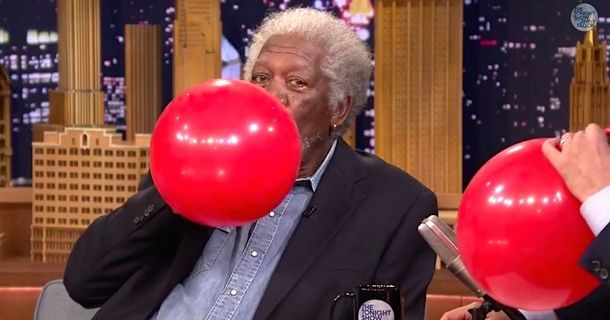 We'd Like To See Morgan Freeman On Helium More Often.